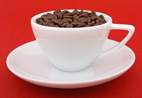 Red Background, Beans, Coffee Brew, Coffee Beans