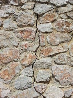 Stone Wall, Natural Stone, Crack, Earthquake, Structure