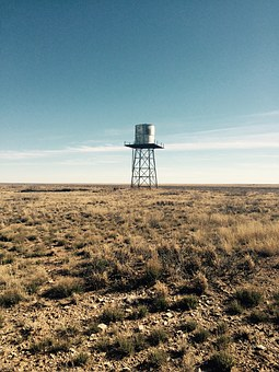 Antique, Water, Tower, San, Simon, Desert, Eunice, New
