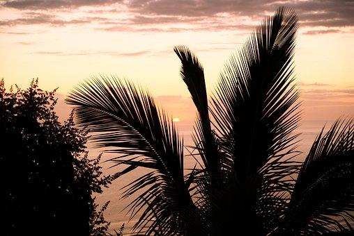 Sunset, Cloud, Reunion Island, Evening, Inflamed, Sun