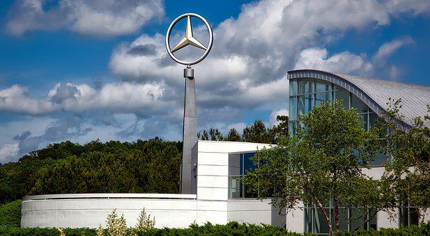 Mercedes-benz, Plant, Factory, Industry, Emblem, Logo