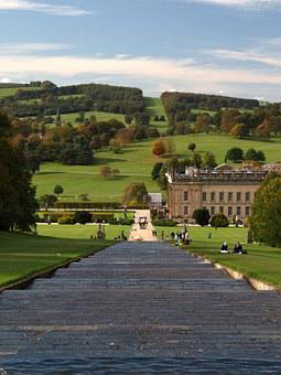 Chatsworth House, Waterfall, Peak District, Grounds