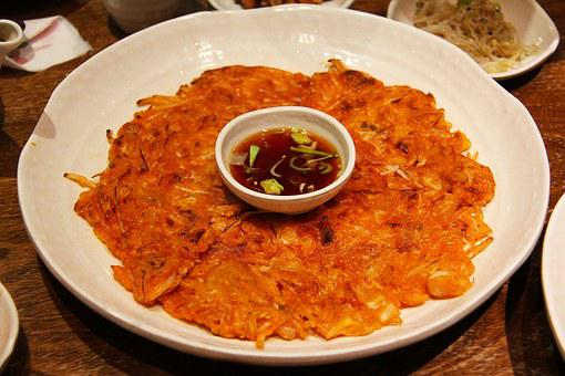 Delicious, Korean, Food, Kimchi, Pancake, Dinner, Hot