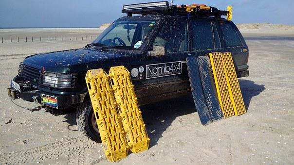 Land Rover, All Terrain Vehicle, Beach