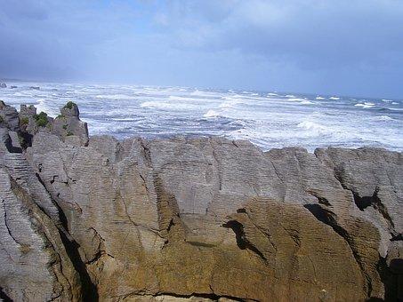 Punakaiki, Pancake Rocks, New Zealand, Rock, Landmark