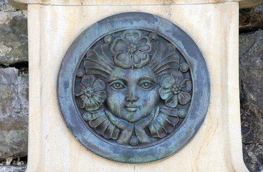 Medallion, Face, Flower, Rose, Lippe Rose