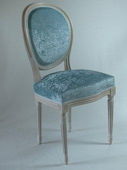 Chair, Upholsterer, Medallion, Fabric