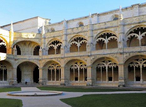 Lisbon, Monastery, Hieronymite, Cloister, Architecture