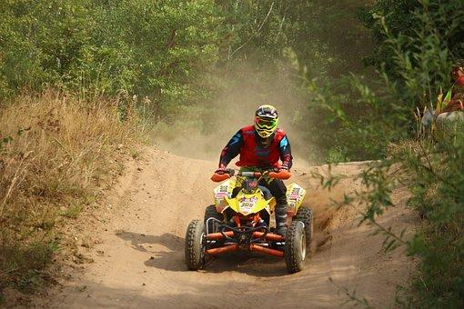 Quad, Atv, Cross, Motocross, Enduro, Motorsport, Sand