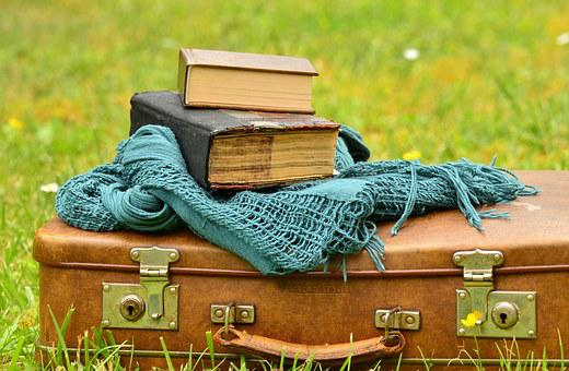 Luggage, Leather Suitcase, Old, Books, Nostalgia, Read