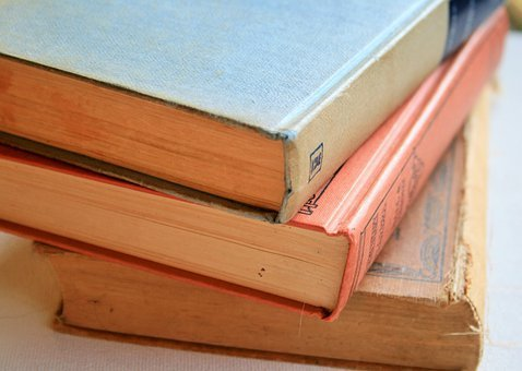 Books, Old, Worn, Stacked, Vintage, Antique, Cover