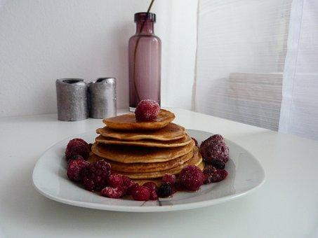 Pancake, Eat, Fruit, Healthy, Protein