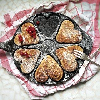 Platelets, American Pancakes, Pancakes, Griddle, Heart