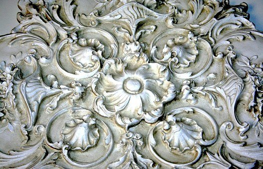 Plaster Relief, Medallion, Architectural Detail, Wall