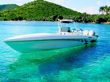 Power Boat, Virgin Islands, Caribbean, Summer, Water