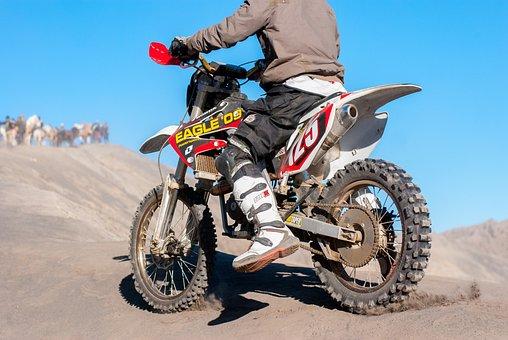 Motocross, Motorcycle, Motorsport, Sand, Race, Racing