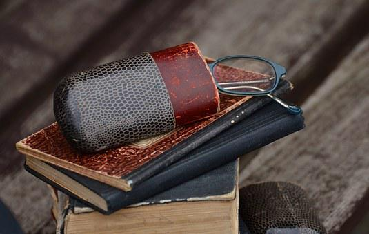 Glasses, Glasses Case, Books, Old, Antique, Read, See