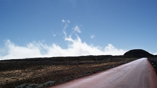 Road, Volcano, Reunion Island, Inflamed, Nature