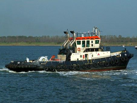 Tug, Boat, Ship, Sea, Vessel, Transport, Water