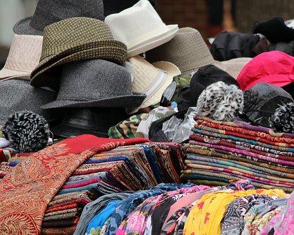 Hats, Scarves, Shawls, Fabric, Cotton, Silk, Tweed