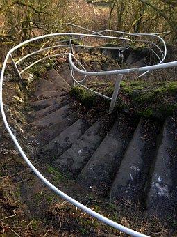 Spiral Staircase, Park, Gradually, Stair Step