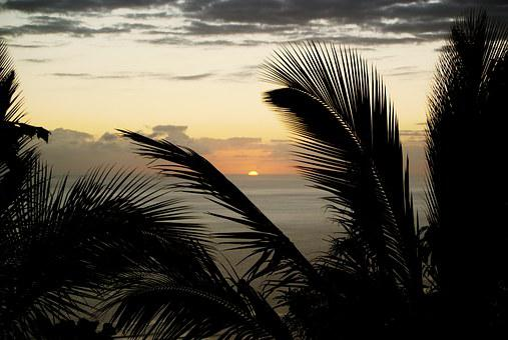 Reunion Island, Sunset, Cloud, Evening, Inflamed, Sun