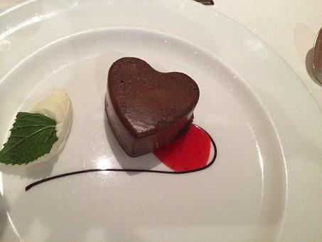 Heart, Dessert, Cake, Mousse, Love, Food, Sweet