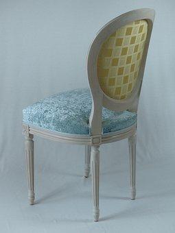 Chair, Medallion, Fabric, Upholsterer