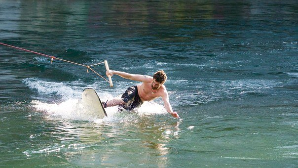 Wakeboard, Water, Water Sports, Surf, Courage, Skill