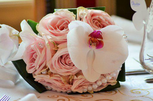 Bouquet Wedding, Wedding, Pink, Wedding Photo, Flowers