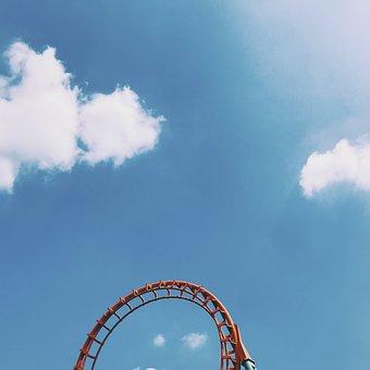 Amusement Park, Blue, Blue Sky, Celebration