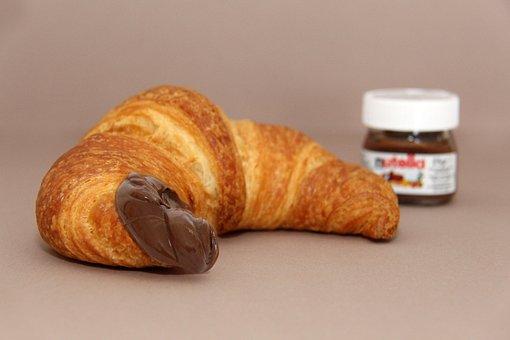 Nutella, Croissant, Pleasure, Enjoy, Breakfast