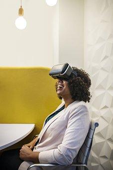 Virtual Reality, Amusement, Businesswoman, Device