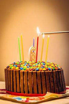 Handmade, Birthday, Cake, Dessert, Candles, Colorful