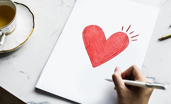 Card, Celebration, Color, Design, Drawing, February