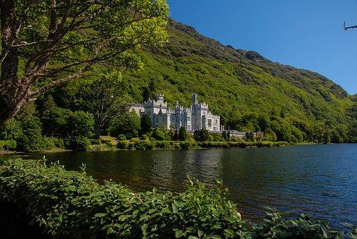 Lake, Ireland, Castle, Nature, Water, Landscape, Cliff
