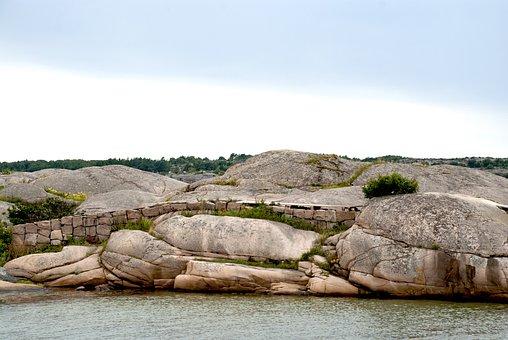 Sweden, The West Coast, Water, Bohuslän, Cliffs, Himmel
