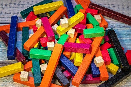 Wooden Sticks, Colorful, Chopsticks, Wood, Color, Toys