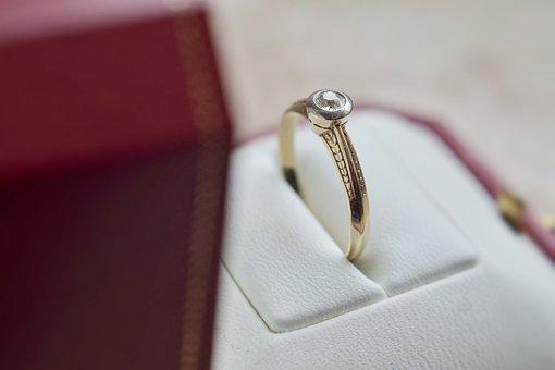 Ring, Engagement, Diamond, Gold, Holster, Gem