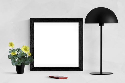 Frame, Poster, Mockup, Wall, Interior, Template, Blank
