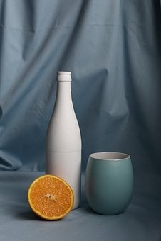 Orange, Fruit, Food, Bottle, Glass, Frosted, Cup