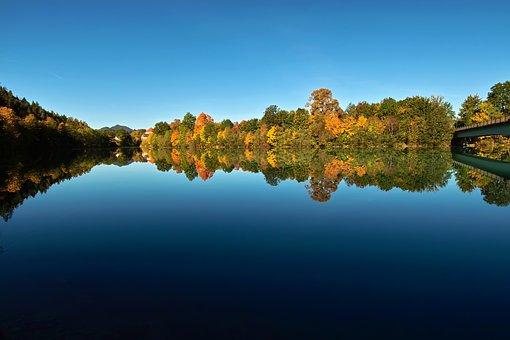 River, Lech, Füssen, Allgäu, Bavaria, Autumn, Landscape