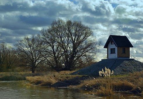 Landscape, Nature, River, Bank, Riverside