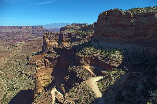 Rod Into Shafer Canyon, Canyonlands, National, Park
