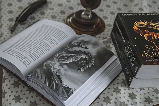 Book, Dragon, Game Of Thrones, Pen, Image, Picture