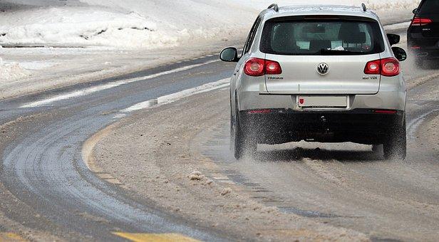 Winter, Snow, Slush, Road, Wintry, Roadway, Frost