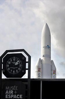 Museum, Le Bourget, Space, Ariane V, Rocket, Air