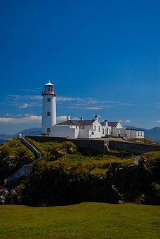 Lighthouse, Sky, Clouds, Sea, Water, Sunset, Light