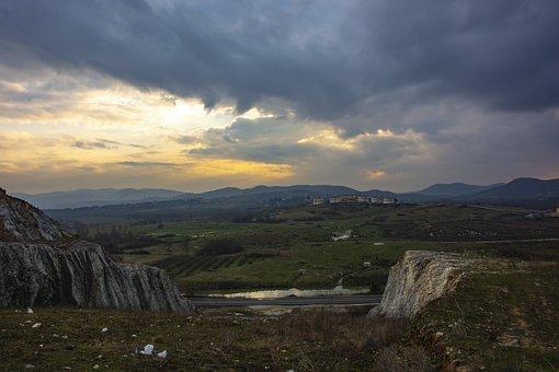Landscape, Nature, Sky, Sunset, Clouds, Rural