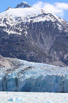 Mountain, Ice, Glacier, Dawes, Alaska, Snow, Water